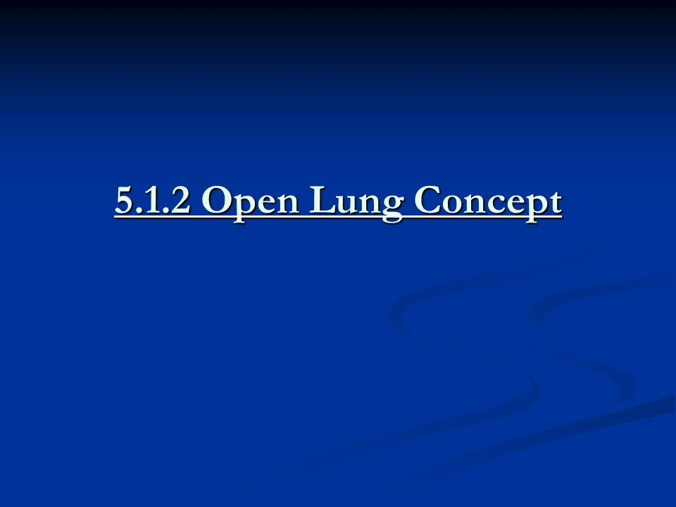 5.1.2 Open Lung Concept