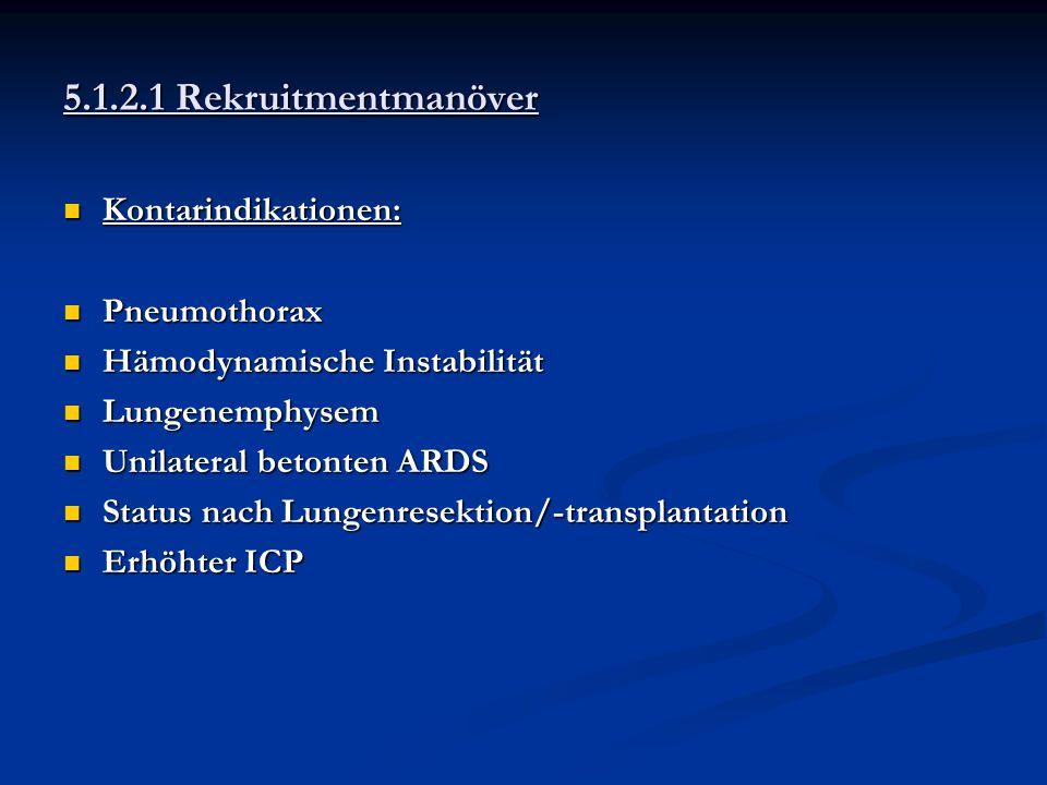 5.1.2.1 Rekruitmentmanöver Kontarindikationen: Pneumothorax