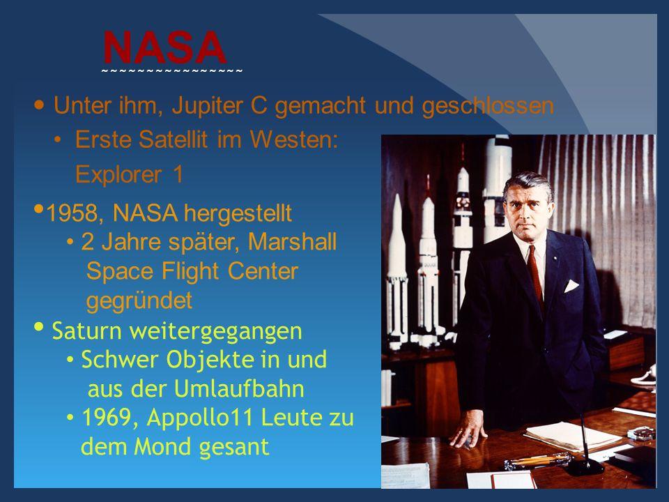 NASA Unter ihm, Jupiter C gemacht und geschlossen