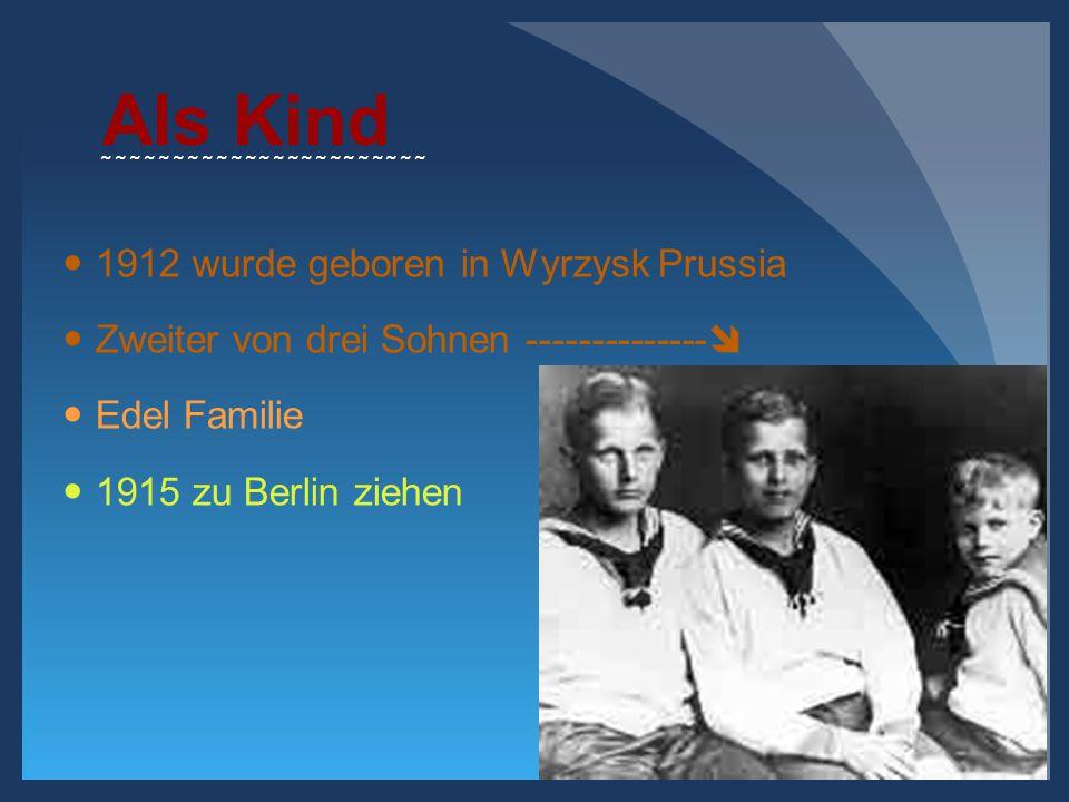 Als Kind 1912 wurde geboren in Wyrzysk Prussia