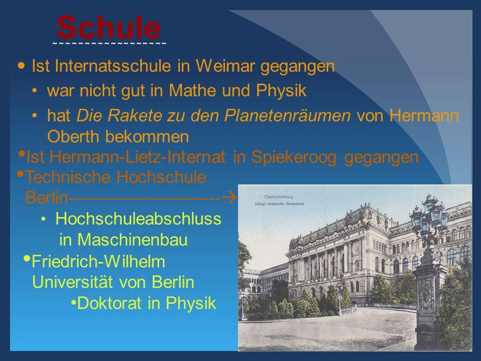 Schule Ist Internatsschule in Weimar gegangen