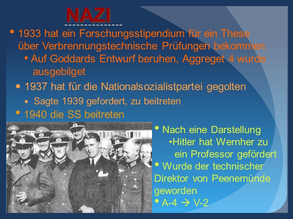 NAZI 1933 hat ein Forschungsstipendium für ein These
