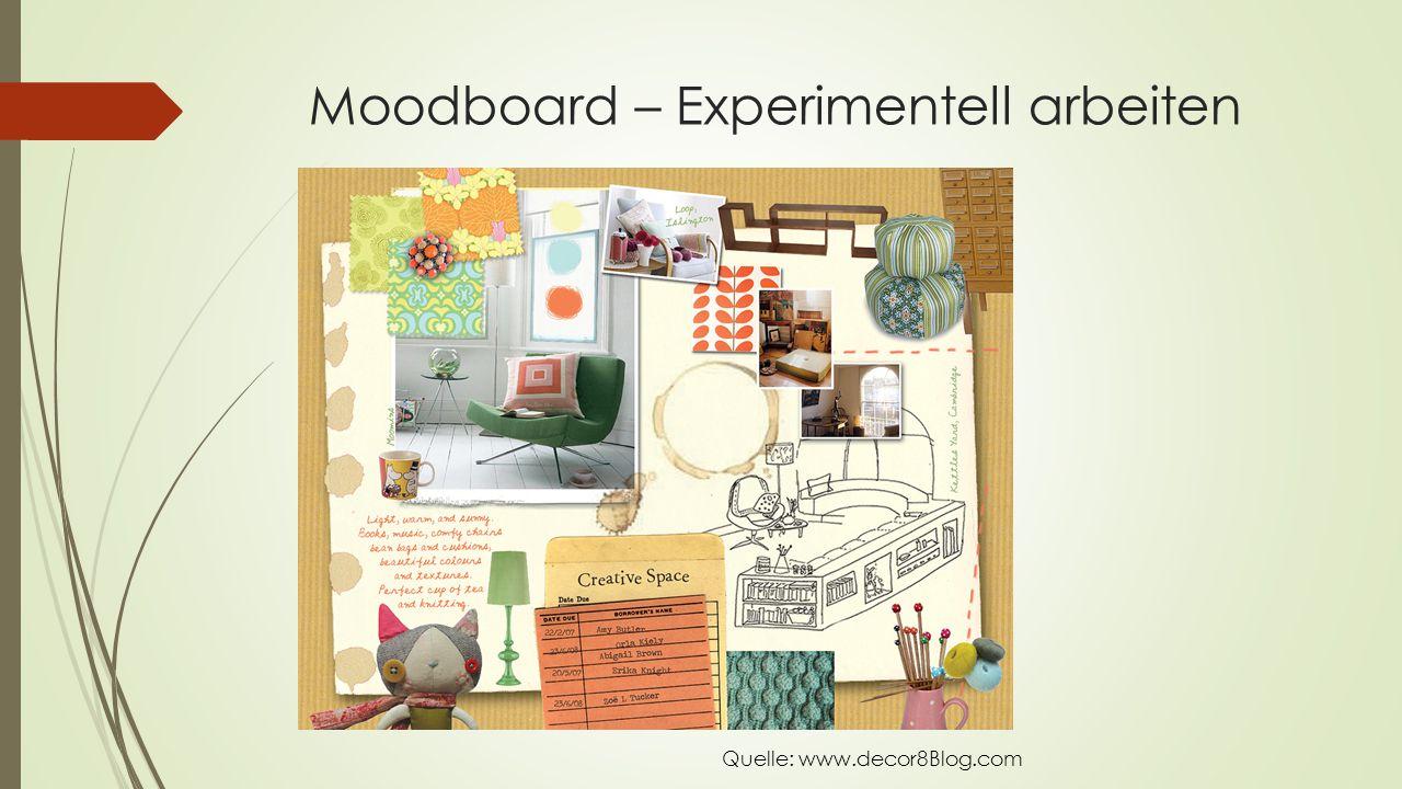 Moodboard – Experimentell arbeiten