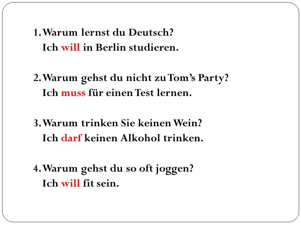 1. Warum lernst du Deutsch