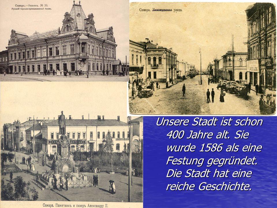 Unsere Stadt ist schon 400 Jahre alt
