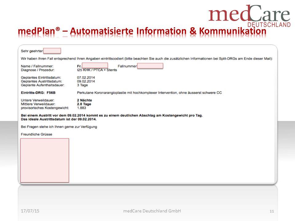 medPlan® – Automatisierte Information & Kommunikation