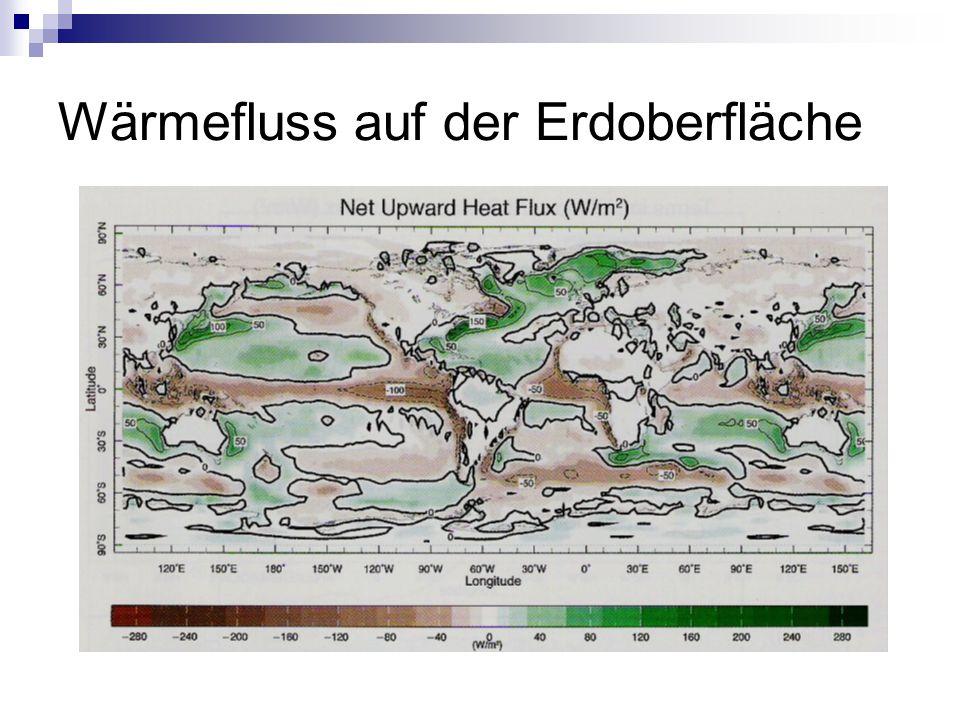 Wärmefluss auf der Erdoberfläche