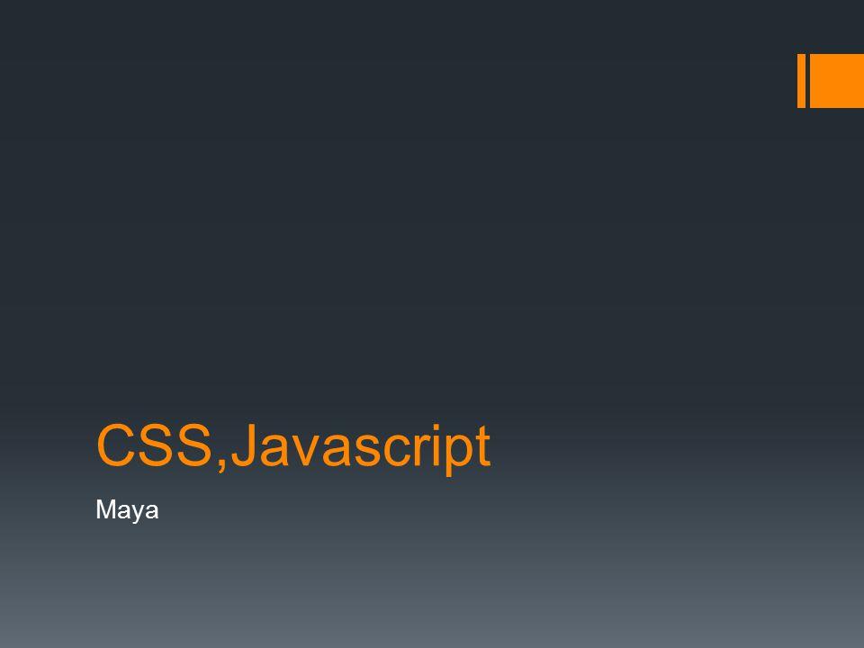 CSS,Javascript Maya