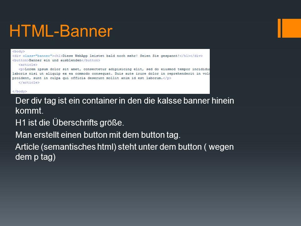 HTML-Banner