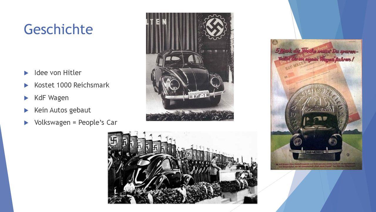 Geschichte Idee von Hitler Kostet 1000 Reichsmark KdF Wagen