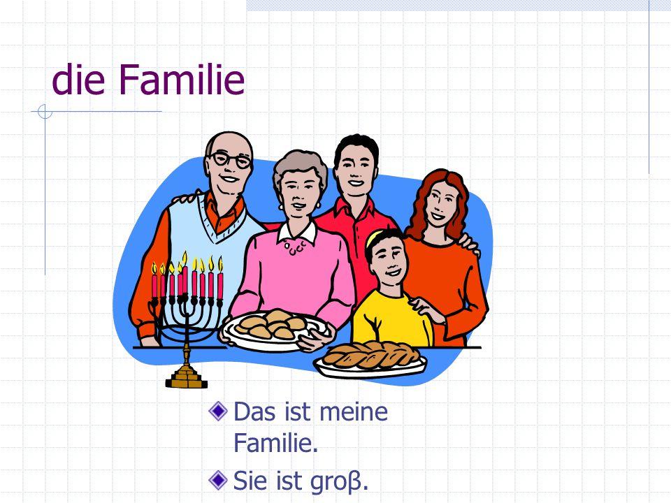 die Familie Das ist meine Familie. Sie ist groβ.