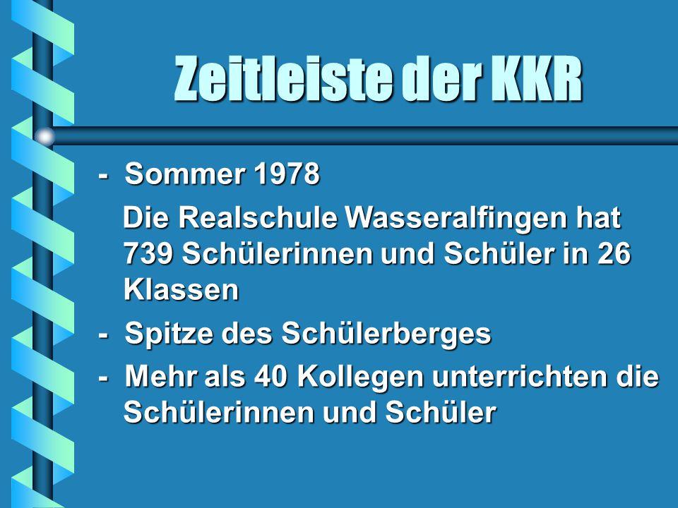 Zeitleiste der KKR - Sommer 1978