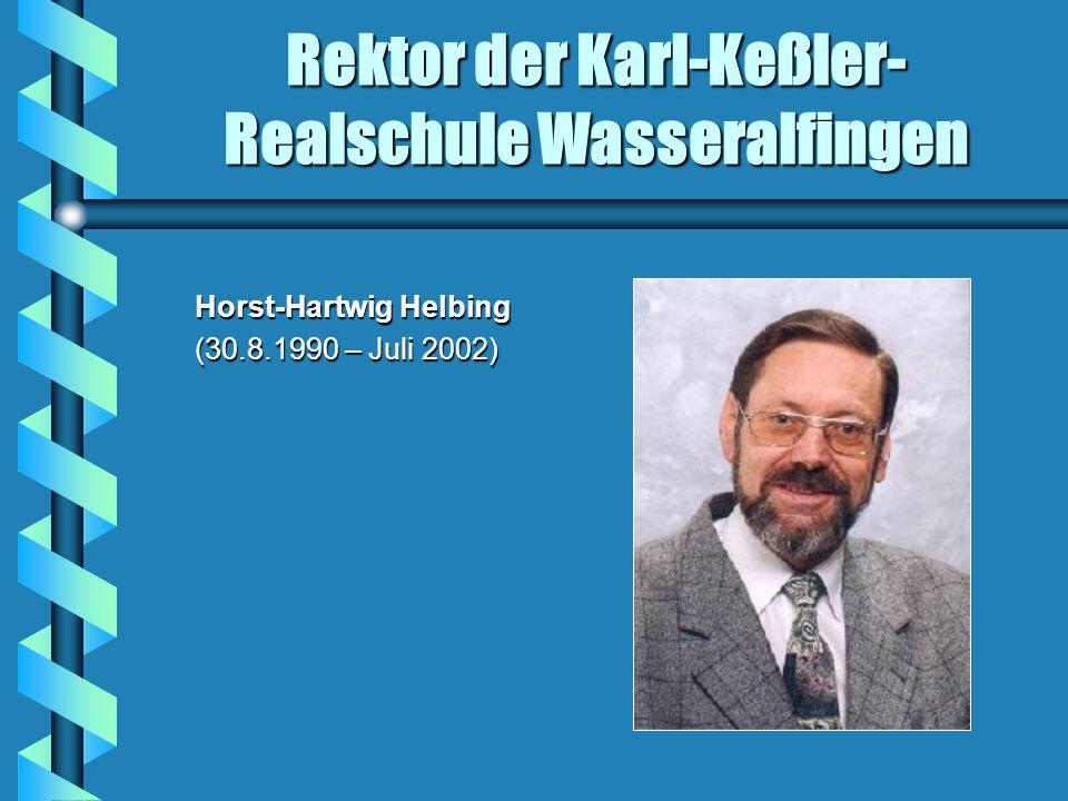 Rektor der Karl-Keßler- Realschule Wasseralfingen