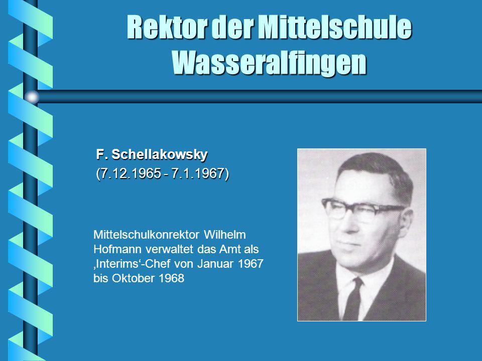 Rektor der Mittelschule Wasseralfingen