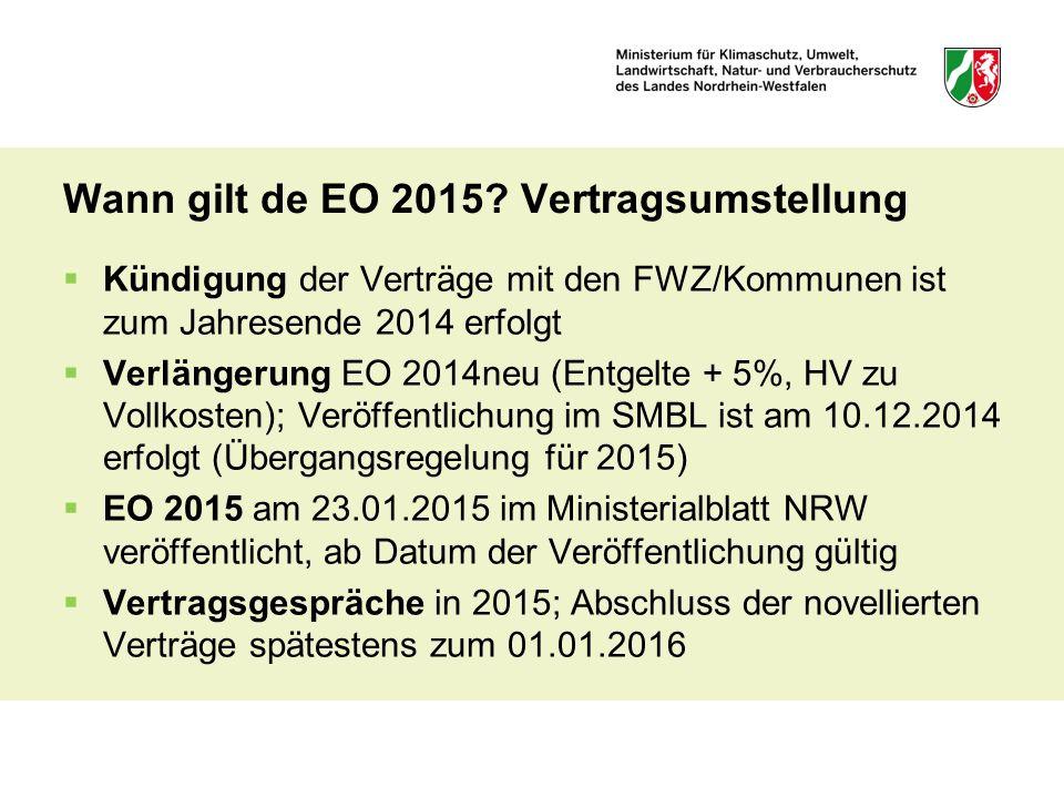 Wann gilt de EO 2015 Vertragsumstellung