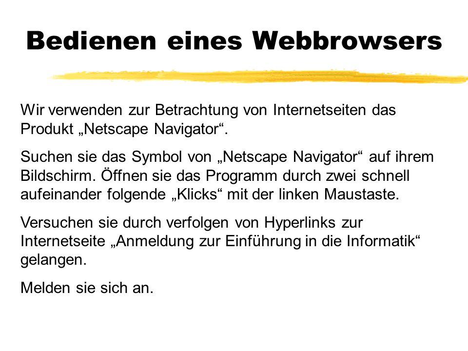 Bedienen eines Webbrowsers