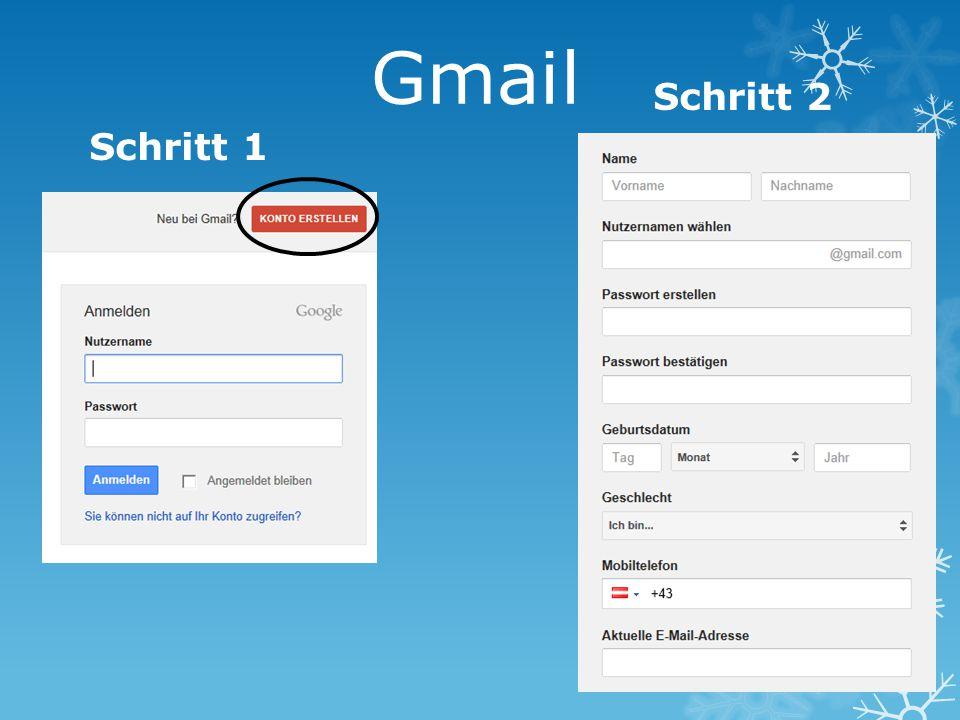 Gmail Schritt 2 Schritt 1