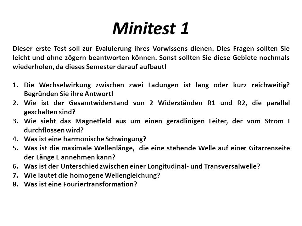 Minitest 1
