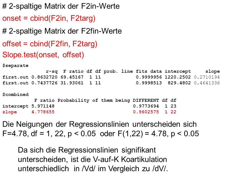 # 2-spaltige Matrix der F2in-Werte