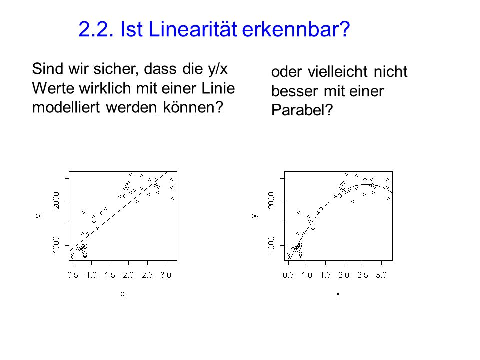 2.2. Ist Linearität erkennbar