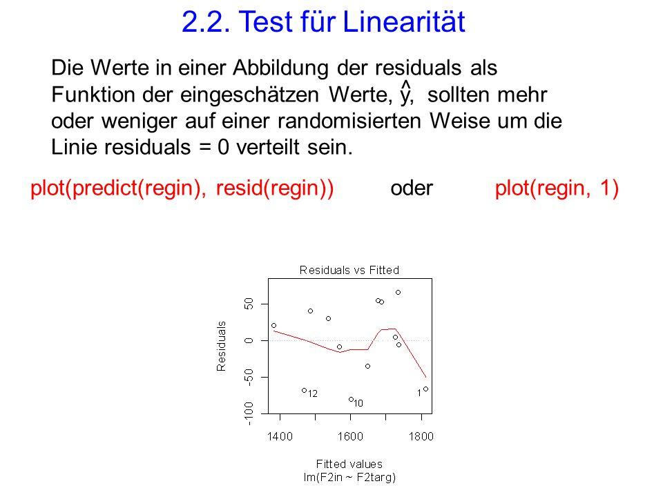 2.2. Test für Linearität