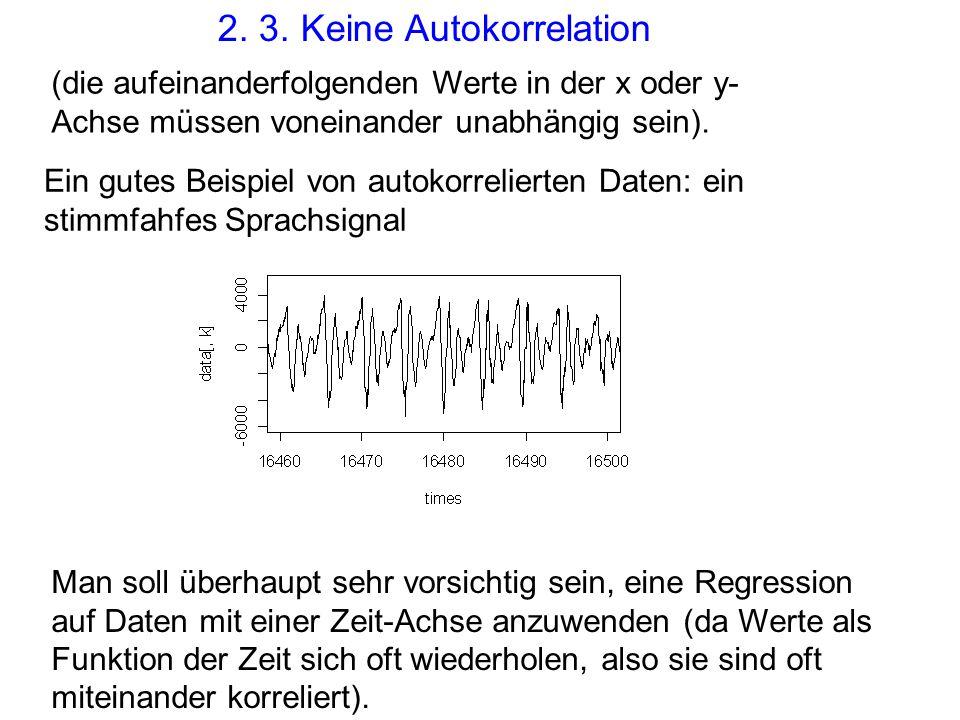 2. 3. Keine Autokorrelation