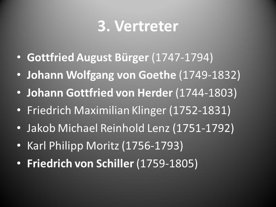 3. Vertreter Gottfried August Bürger (1747-1794)