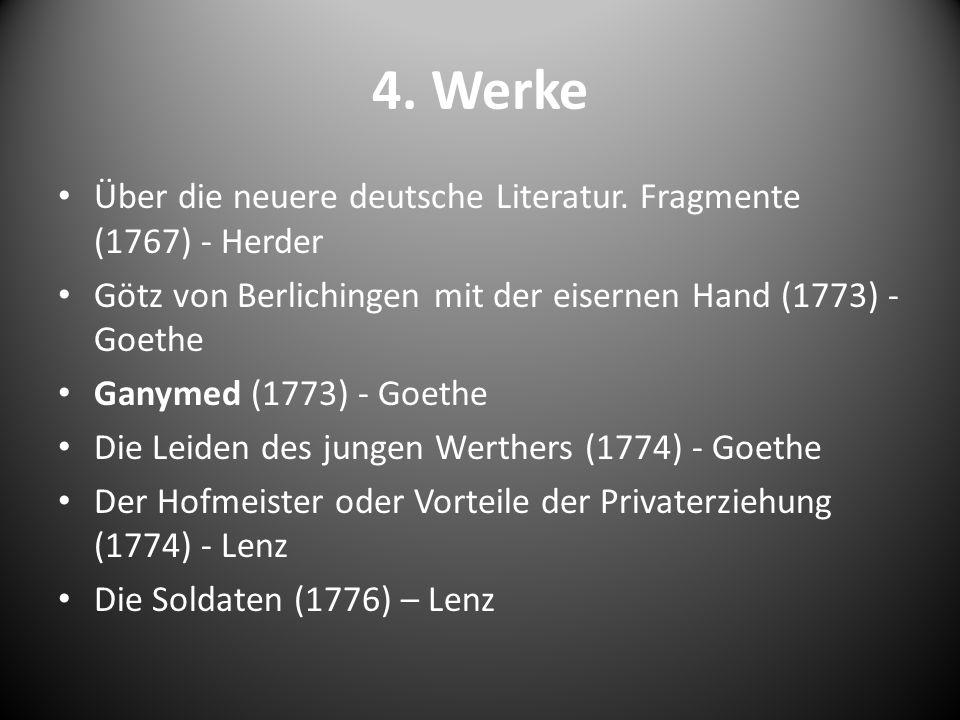 4. Werke Über die neuere deutsche Literatur. Fragmente (1767) - Herder