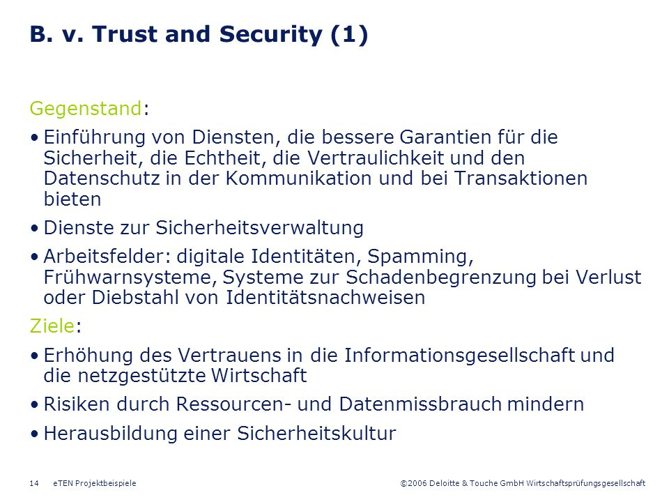 B. v. Trust and Security (1)