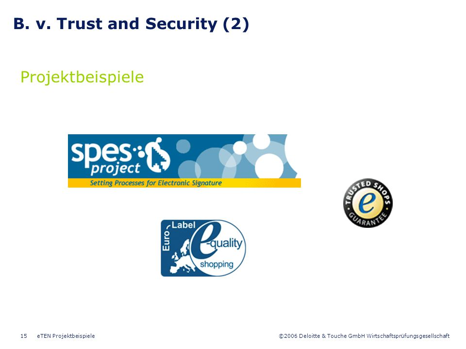 B. v. Trust and Security (2)