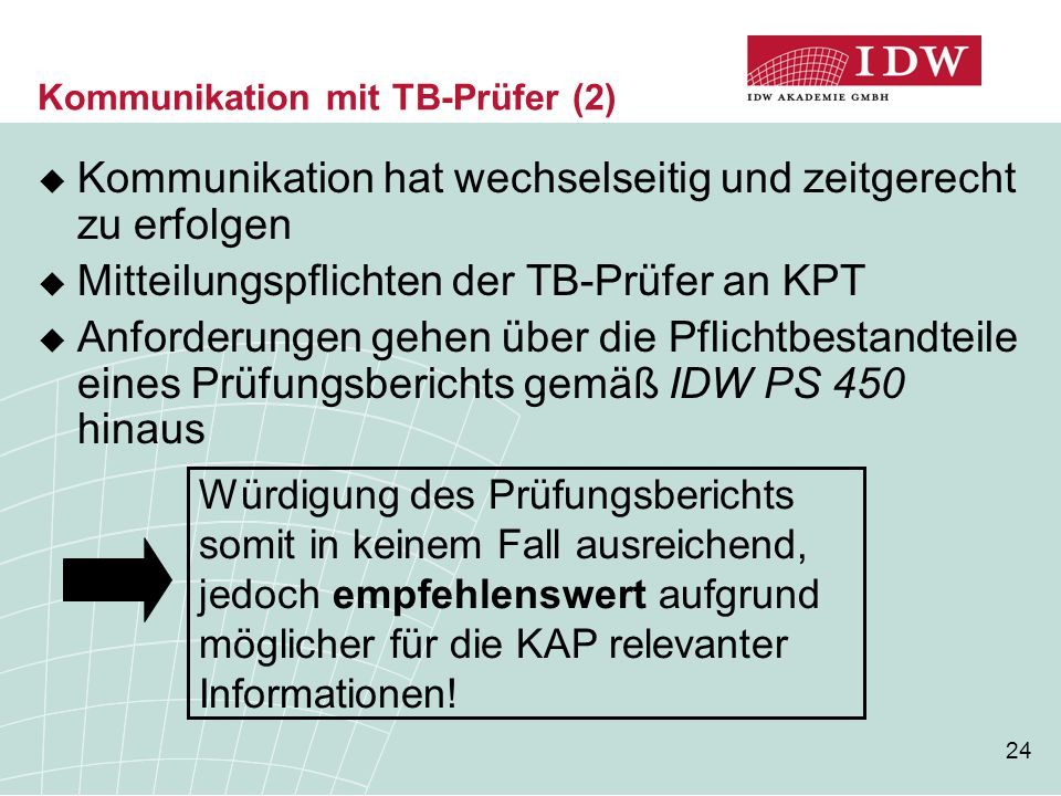 Kommunikation mit TB-Prüfer (2)
