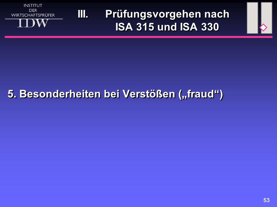 III. Prüfungsvorgehen nach ISA 315 und ISA 330