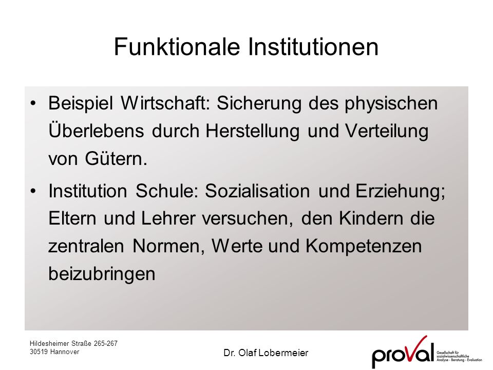 Funktionale Institutionen