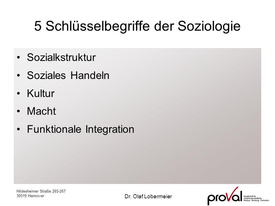 5 Schlüsselbegriffe der Soziologie