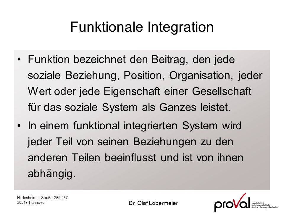 Funktionale Integration