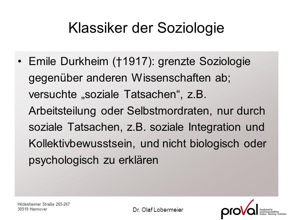 Klassiker der Soziologie