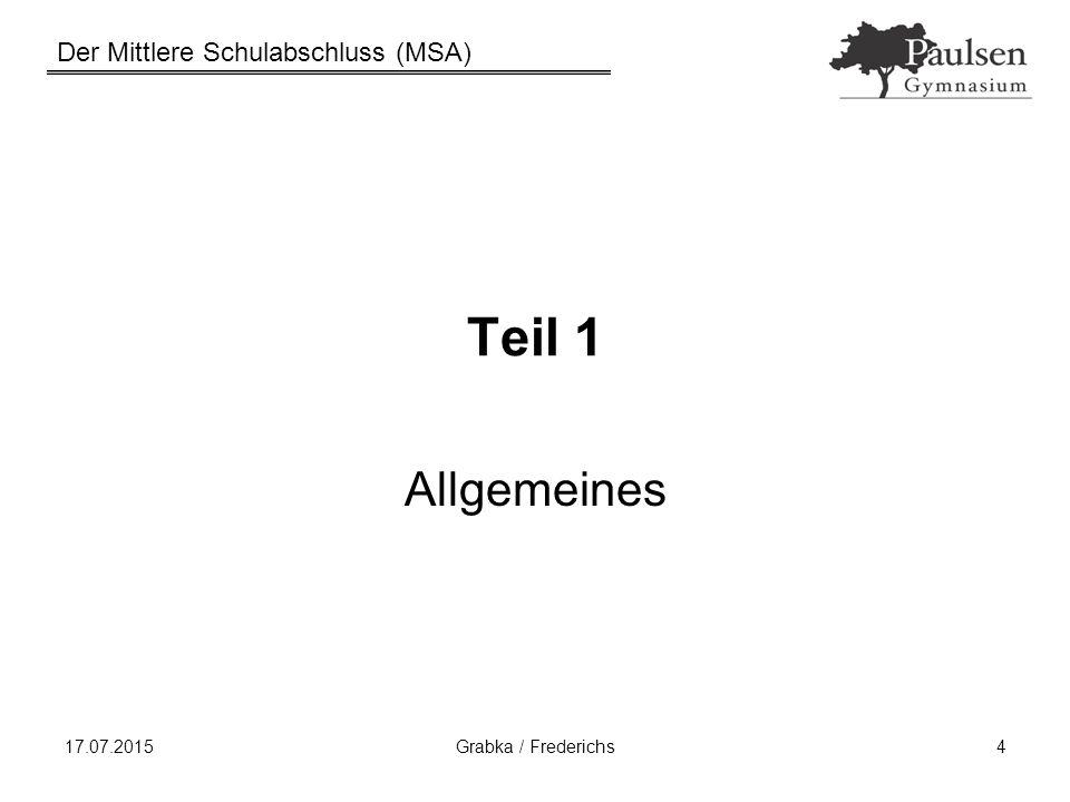 Teil 1 Allgemeines 18.04.2017 Grabka / Frederichs