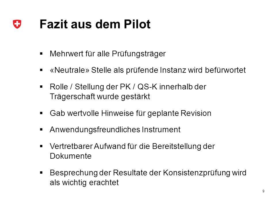 Fazit aus dem Pilot Mehrwert für alle Prüfungsträger