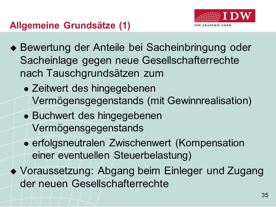 Allgemeine Grundsätze (1)