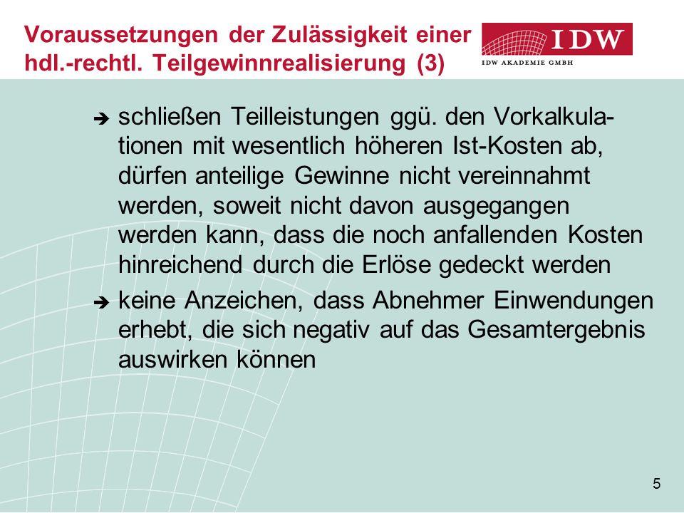 Voraussetzungen der Zulässigkeit einer hdl. -rechtl