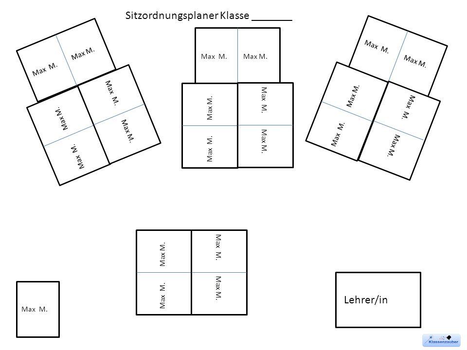 Sitzordnungsplaner Klasse _______