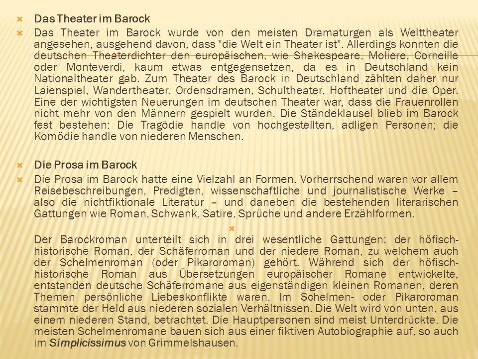 Das Theater im Barock