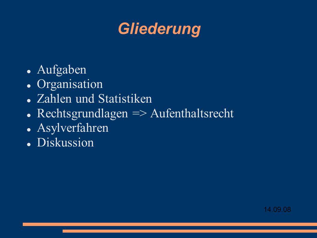 Gliederung Aufgaben Organisation Zahlen und Statistiken
