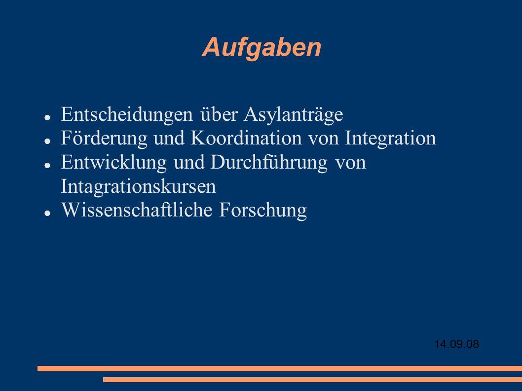 Aufgaben Entscheidungen über Asylanträge