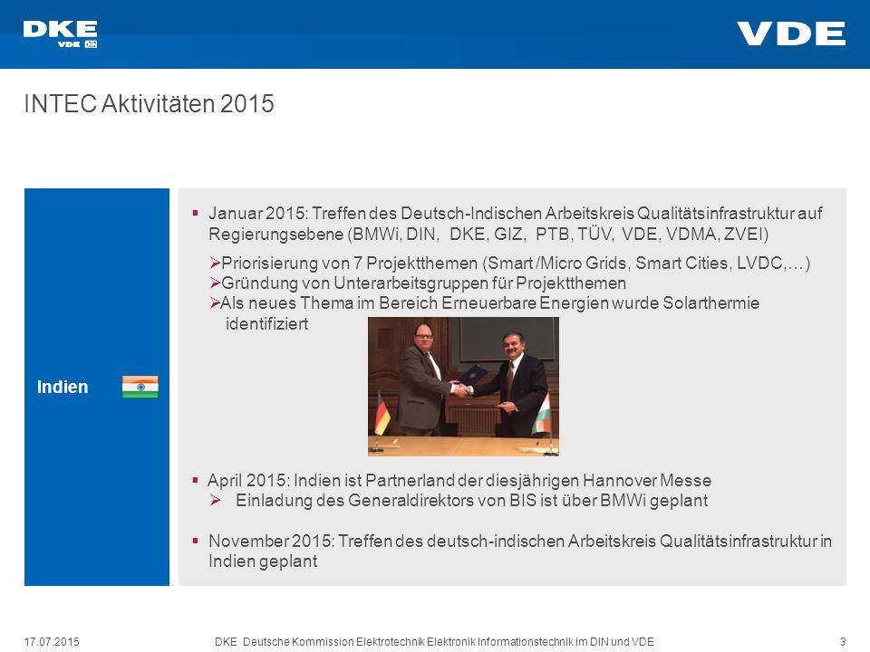 INTEC Aktivitäten 2015 Indien.