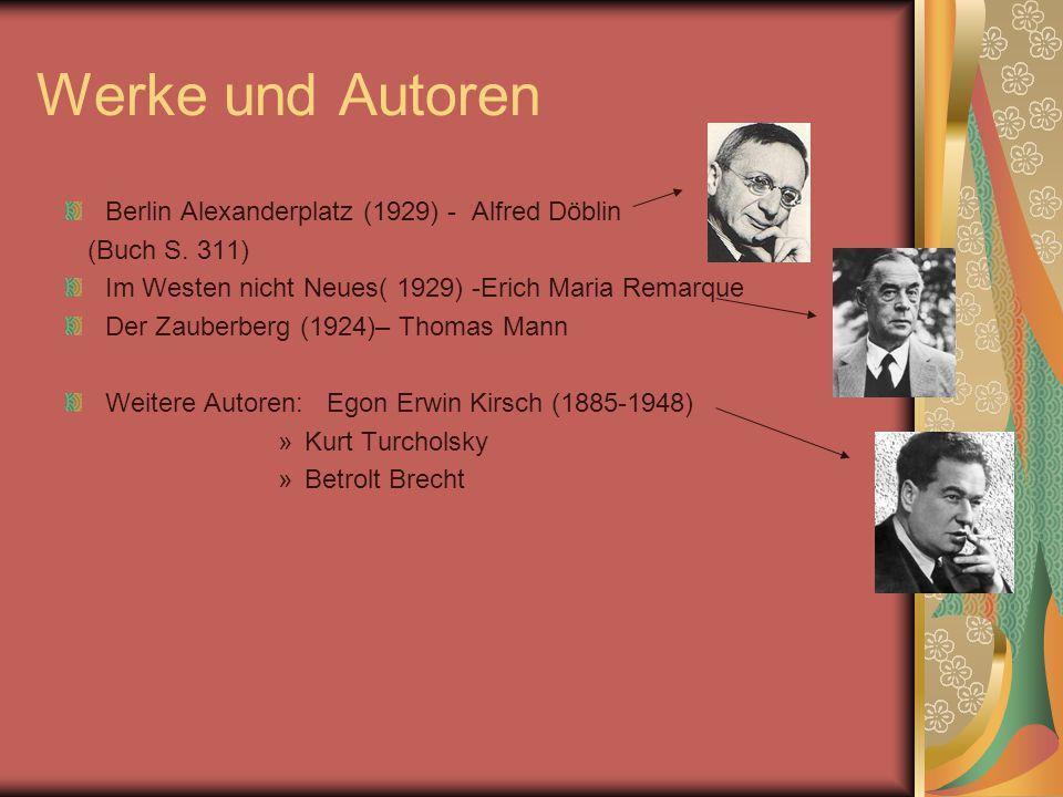Werke und Autoren Berlin Alexanderplatz (1929) - Alfred Döblin