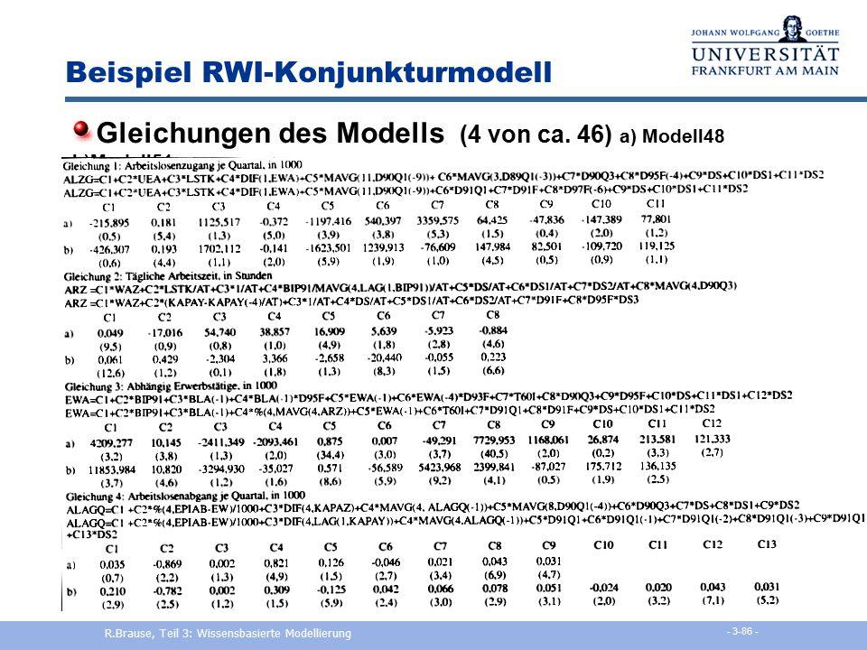 Beispiel RWI-Konjunkturmodell
