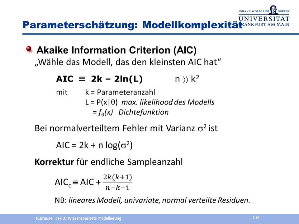 Parameterschätzung: Modellkomplexität