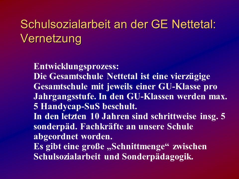 Schulsozialarbeit an der GE Nettetal: Vernetzung