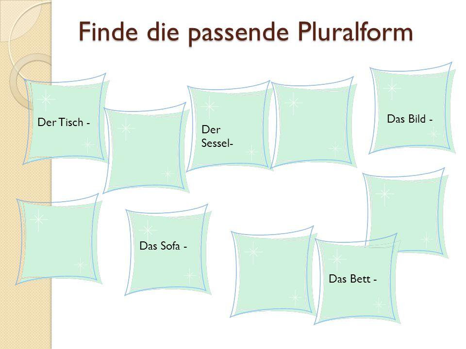 Finde die passende Pluralform